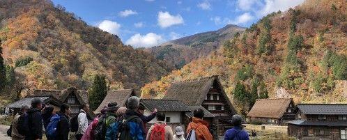 秋の五箇山をウォーキング♪「なん旅」に里山と世界遺産を満喫するツアーが登場