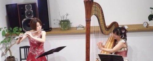9月1日(日) 開催♪  Inaizumi Farm Presens 里山の音楽会  ハープ&フルートコンサート
